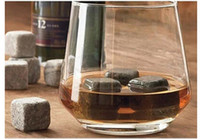 Wholesale 9pcs Whisky Ice Stones Drinks Cooler Cubes Whiskey Scotch Rocks Granite Pouch