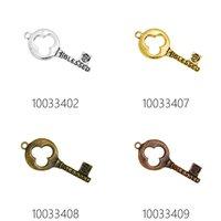 skeleton key - Antique Vtg old look Skeleton Keys antique bronze pendant Steampunk Jewelry Charms