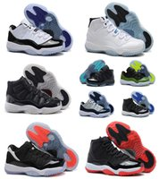 Wholesale 2016 basketball shoes air retro man shoes cheap Authentic Concord XI Men Basketball Shoes Bred Gamma Blue Legend Blue Sneakers Size