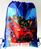 draw string bag - 2015 Beast corps children backpack big hero toy bags draw string school bag kids cartoon backpacks shopping bags SB11