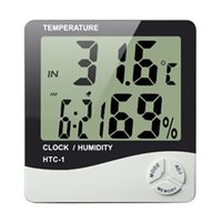 accurate alarm clock - Electronic Accurate Digital Temperature Humidity Meter Thermometer LCD Clock Alarm
