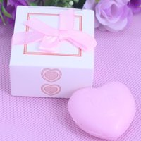 wedding and baby favors - 20PCS Bulk Boxed pink Heart Scented Soap For Girl Baby Shower Giveaway Gift Personalised Wedding Favors and Gifts For Guest