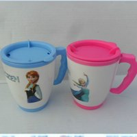 Wholesale NEW Fro zen Coffee Cup Elsa Anna water cup Sealed Insulating Keep Warm cup blue pink freeshipping