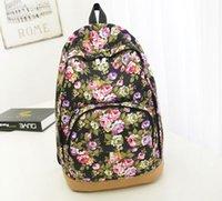 canvas backpacks - 2015 New Arrival Fashion Canvas Backpacks Casual Daypacks Floral Women Backpacks Bolsas Mochilas Femininas H59