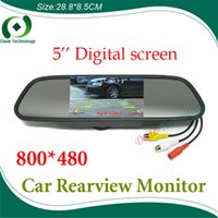 """Wholesale Car Roof Lcd Screen - High resolution 5"""" Color HD TFT LCD Car Rearview Mirror Monitor 800*480 5 inch 16:9 screen DC 12V car Monitor for DVD Camera VCR A3*"""
