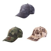 Wholesale Hot Sale Men Women Military Tactical Cap Bionic Camouflage Sun Hat Baseball Cap Outdoor Hunting Camping Hiking Cycling Peaked Cap Y0621