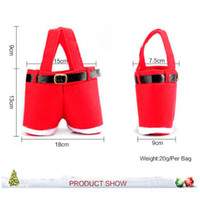 Wholesale New Hot Santa pants style Christmas candy gift bag Xmas Bag Gift DHL from faststep high quality hot selling