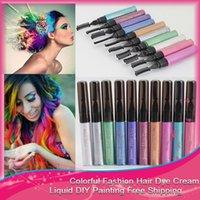 Wholesale Temporary Hair Color professional Cream Pastel Gradient Hair Dye Color DIY Hair Cream
