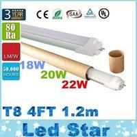T8 led super bright - CE ROHS FCC UL ft m mm T8 Led Tube Lights High Super Bright W W W Warm Natraul Cool White Led Fluorescent Lamp AC V