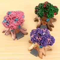 architectural ornament - Micro Landscape Architectural Ornaments Cartoon Toys Fleshy Multicolor Optional Resin Handicraft Ornaments Tree House