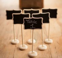 Wholesale 10x MINI CHALKBOARD BLACKBOARDS ON STICK STAND PLACE HOLDER BRAND NEW WEDDING Party Decorations