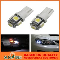 led bulbs for car - 5 SMD T10 LED Bulbs For License Plate Car LED T10 W5W Wedge Side Lights Bulb Lamp