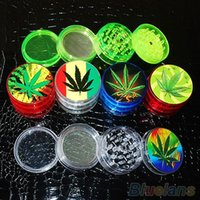 Wholesale 4 Layer quot Leaf Herbal Herb Tobacco Grinder Smoke Spice Crusher Hand Mill Muller VL4