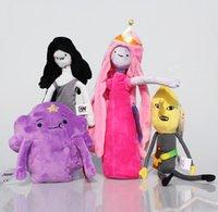 Unisex adventure time toys plush - Adventure Time Princess Plush Princess Marceline Lumpy Space Bonnibel Bubblegum Plush Doll Toys cm Styles Selectable