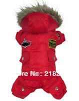 air china pets - Retail New Coming Thick Warm Air Man Style Pet Dogs Winter Coat By china post new clothing for dog