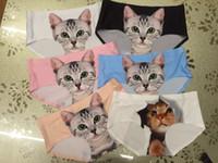 nylon panties - Sexy Lady Underwear Pussycat Panties British Pop Self popular Cartoon Oxytropis D Cats Briefs No Trace Thin Seamless