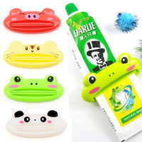 Wholesale Cartoon Animal Toothpaste Tube Squeezer Easy Dispenser Rolling Holder Bathroom
