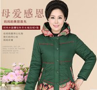 ageing spelling - Fashion women s jacket winter new middle aged mother dress embroidered cotton hooded coat spell color XL XL