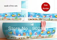 bathroom tile borders - funlife x210cm x83in Cartoon fish underwater world traffic Wallpaper Wall Sticker Border for bathroom