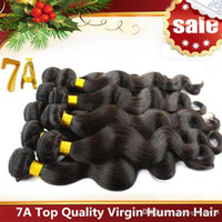 Natural Color #1b human hair extensions - Brazilian Hair Remy Human Hair Extensions Peruvian Malaysian Indian Cambodian Hair Weave Body Wave Extensions A Best Quality Accept Return