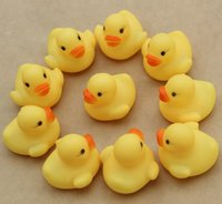 Wholesale Baby Bath Water Toy toys Sounds Yellow Rubber Ducks Kids Bathe Children Swiming Beach Gifts Cute Animals Bathing Toy bag D4226