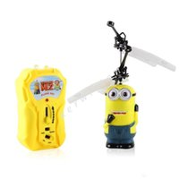 Wholesale RC Helicopter Xmas Kids children s products Toy Remote Control Toys Sensor Flying Fairy Despicable ME