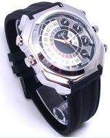 32GB 1080P FULL HD impermeable reloj de visión nocturna reloj ocultado reloj de la cámara Mini DVR DV Video banda de cuero