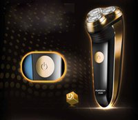 Electric Shavers - New Washable Waterproof Heads Rotary Electric Shavers Razor Hair trimmer Rechargeable men s shaving hair removal
