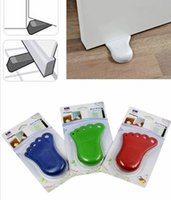 door stopper - Child Baby Safe Safety Door Stop Foot Plastic Guard Kids Baby Infant Safety Protector Stopper Guards Doorstop LY