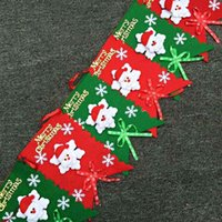 Wholesale Enfeites De Natal Colorful Christmas New Year Hanging Flag Party Decoration Snowman Ornaments Set m Length party decoration