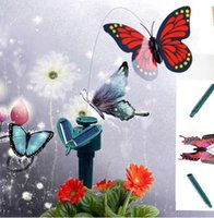 Wholesale Solar Powered Flying Decorative Butterflies Aritificial Butterfly Decor Garden Remote Control Solar Toys Crafts