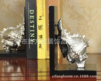 Wholesale European and American home style conch book by creative bookends model room Decoration den decorations