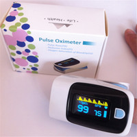 Wholesale Fingertip Pulse Oximeter alarm SpO2 Blood Monitor Medical Easy to use OLED display Low power consumption Pulse rate value DHL