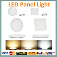 Wholesale DHL flat panel led light W W W W W super slim panels lamps warm pure cool lighting