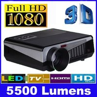 Wholesale Home theater projectors mini Lumens1080P D Full HD LCD TV LED Projector Video Beamer