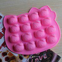 Wholesale Katie KT silicone cake mold even hello KITTY cat DIY chocolate mold jelly pudding