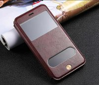 Wholesale retro vintage S View window flip leather case cover pouch for iPhone Plus fashion flip leather cover