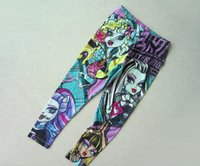 Wholesale Hot selling piece hotsale2014 Brand new MONSTER HIGH Children s Pants Girl s Leggings Kids Casual Pencil Pant