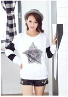 best college gifts - Quality sale autumn ladies clothes loose printing long sleeve shirt women fashion joker casual college base blouse best gift