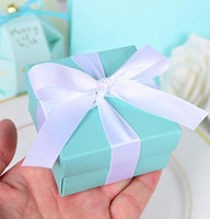 Wholesale 20pcs Tiffany Blue Candy Box Wedding Candy Box Gift Box Elegant Wedding Decoration Supplies Event Party Supplies