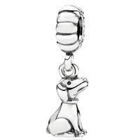 925 sterling silver charms - Dog Pendant Sterling Silver Charm European Charms Bead Fit DIY Snake Chain Bracelet Women Jewelry