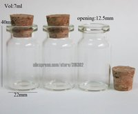 glass bottle with cork - DHL ML Clear Glass Bottle With Cork cc Glass Container Transparent Glass Wishing Bottle