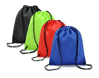 Wholesale quot Foldable PlainThicken Waterproof Drawstring Backpack Bag Sports Bag Travelling Backpack Collecting Bags