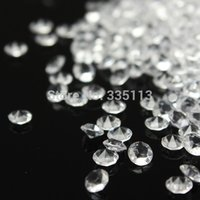 Wholesale 2000pcs Wedding Party Decoration Scatter Table Clear Crystals Diamonds Acrylic Confetti