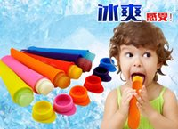 Cheap Wholesale Silicone Push Up Ice Cream ice Lolly Pop Maker Popsicle Mould Mold factory price 500pcs free shipping