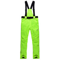 Wholesale skiing pants male Women winter outdoor monoboard waterproof thermal thickening skiing pants suspenders