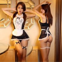 maid costume - Sexy lingerie Women Costume Lovely Female Maid Classical Lace Sexy Miniskirt lolita maid Sexy Costume Sex Products For Women