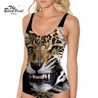animations tiger print - Plus size New arrival Animation Swimwears Women Sexy Printed Green eyed tiger Leopard Swimsuit Digital Print Drop shipping FG1510
