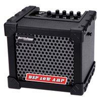 Wholesale Aroma TM W Electric Guitar Amp Amplifier Speaker Built in Tuner Tap Function Effect Volume Tone Control with Power Adapter