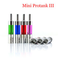 electrical fittings - 1PCS mini Protank III atomizer glass tank dual coil clearomizer E cigarette e cigs can fit ego RBA mini ProTank Electrical